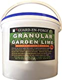 GUARD-EN-FORCE Granular Garden Lime Soil Conditioner, Fast Acting Fertiliser, Lawn, Flower, Tree and Crops Plant Food, Sold in Resealable Tub (5 Kilograms)