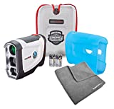 Bushnell Tour V4 (Standard) Golf Rangefinder PATRIOT PACK BUNDLE - with Carrying Case, Blue Protective Skin, PlayBetter Microfiber Towel and Two (2) CR2 Batteries