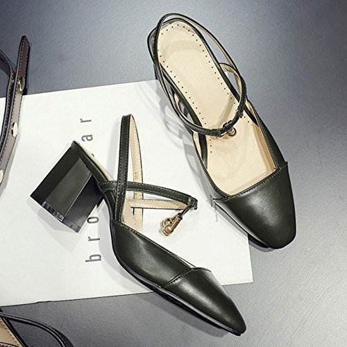 Zanpa Dark Femmes Chaussures d Sandales Green Ete wwrgRq