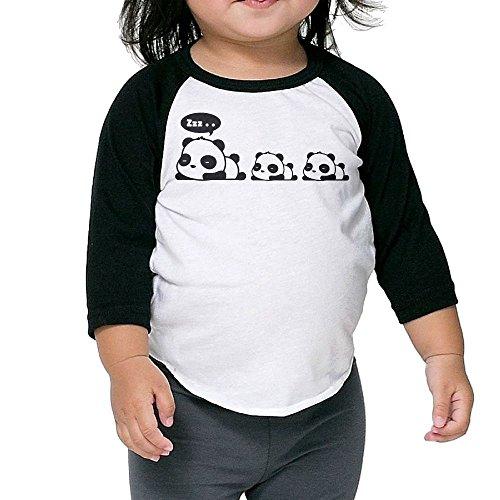 [Saroyan Sleeping Pandas Baby Raglan T-Shirts Baseball Tee 3/4 Sleeve 4 Toddler] (All Costumes For God Of War 3)