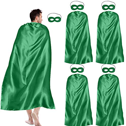 iROLEWIN Adult-Sized Superhero Capes with Masks Set Costumes for Men - Women Dress up Party -