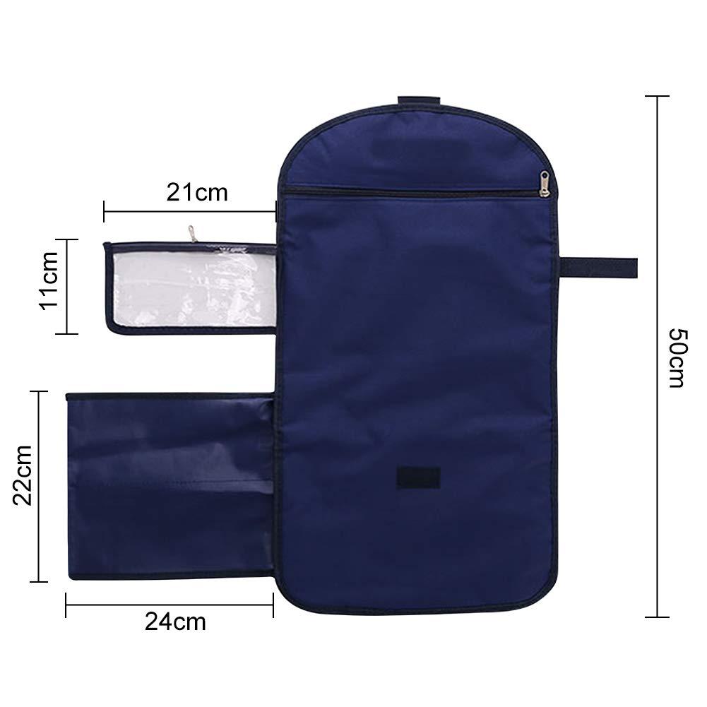 Imperm/éable et Pliable Nappy Matelas /à Langer -WENTS Matelas /à Langer Portable Bleu Id/éal pour les Voyages /à la Maison en Plein Air