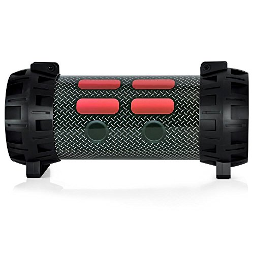 Pyle PMBSPG40 Portable Bluetooth Boom Box Speaker System Rechargeable  Battery DJ Flashing LED Lights