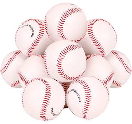 Kangaroo Recreational Sports Baseballs (12-Pack), PVC Leather, Rubber Exterior, Solid Cork Centers