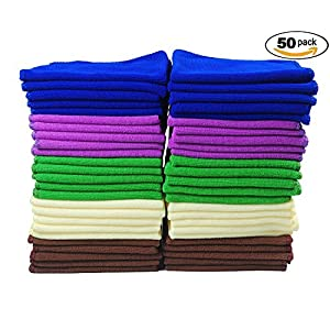 TTpn Lint-free Microfiber All-Purpose Cleaning Cloth. Pack of 50