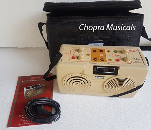 Electronic Tanpura/Tabla - RADEL Milan Digital Tabla Plus Tanpura, Digital Tabla and Tanpura Sound Machine, Tabla/Tanpura/Tambura Sampler, Instruction Manual, Bag, Power Cord by Chopra