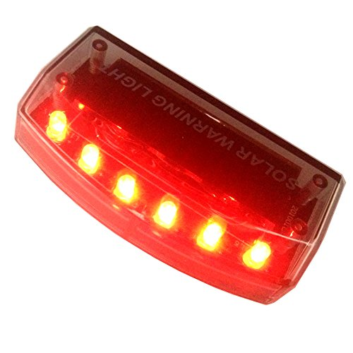 Sunnytech® 1pc Solar Car Burglar Alarm 6LED Flashing Anti-theft Warning RED Light GSPX D141 (Red)