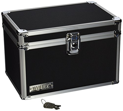 Vaultz Locking 5 x 8 Index Card Box, Black (VZ01280)