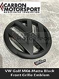 vw gti matte black emblem - Carbon Motorsport Golf Matte Black Front Grille Badge Emblem Gti Tdi Tsi