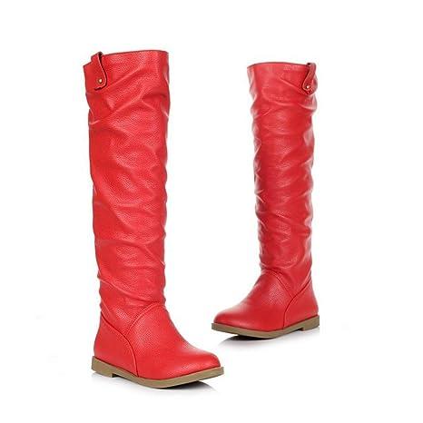DANDANJIE Zapatos de Mujer. Botas Antiarrugas. Botines de tacón ...