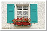 barewalls Decorative Wooden Window Paper Print Wall Art (10in. x 15in.)