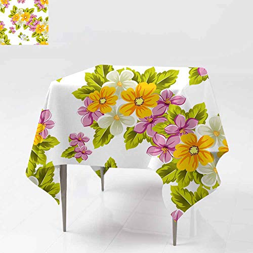 Resistant Table Cover,abstract background of flowers Seamless pattern for design cards greeting invitation for a birthday wedding party holiday c Party Decorations Table Cover Cloth 50x50 Inch elebra]()