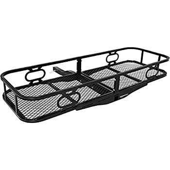 Amazon Com Curt 18153 Basket Trailer Hitch Cargo Carrier 500 Lbs