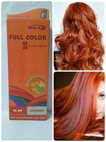 Premium Permanent Hair Color Cream Dyeing Orange Cosplay No. (Temporary Glow In The Dark Hair Dye)