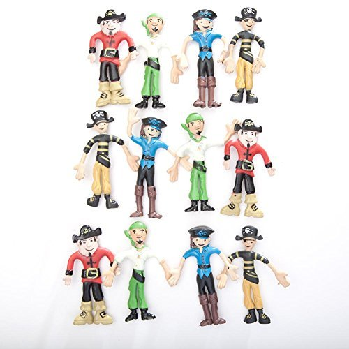 Bendable Pirates (1 Dozen) (Pirate Stuff)