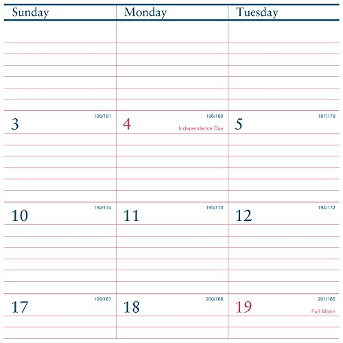 AT-A-GLANCE Academic Year Monthly Desk Pad Calendar, July 2016 - June 2017, 21-3/4