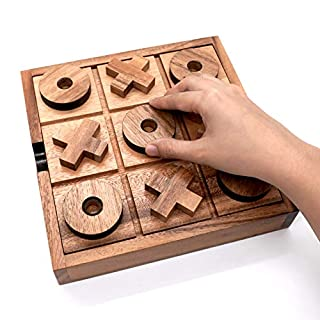 Giant Tic Tac Toe Wooden Game for Kids Coffee Top Table Adults Living Room Decor and Desk Décor Family Games Night Classic Board Games Rustic Game for Families