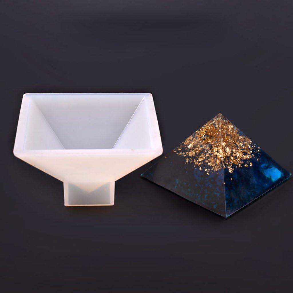 P Prettyia 2 Pi/èces Moule Silicone de R/ésine Pyramide DIY Figurine Artisanat Art Fabrication de Sp/écimens de Fleurs S/éch/ées