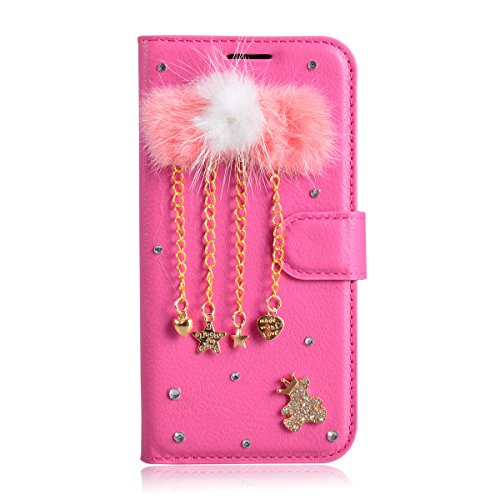 Meizu M6 Note Case,Gift_Source [Card Slot] [Folio Flip] Luxury 3D Bling Crystal Rhinestone PU Leather Magnetic Wallet Case Kickstand Cover for Meizu M6 Note (5.5 inch) [Necklaces]