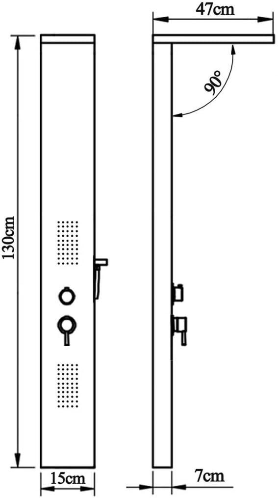 vidaXL Sistema de Panel de Ducha Moderno Cuadrado Acero Inoxidable Cromado