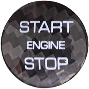 WLKE Real Carbon Fiber Engine Start Buttons Cover Trim for Land Rover Discovery Sport Evoque (Black)
