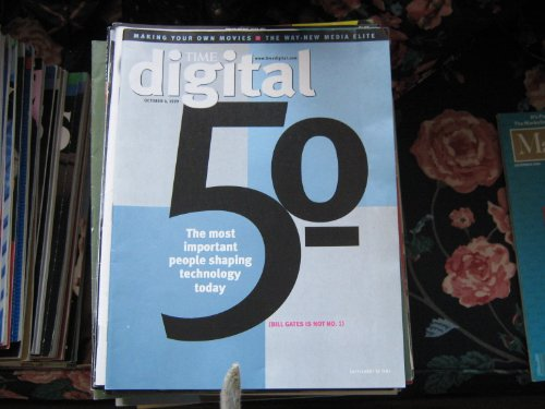 Time Digital Magazine (50 Most Important People Shaping Technology Today . Jeff Bezos , Steve Case , Bill Gates , Linus Torvaids , Meg Whitman , Michael Dell , John Chambers , Steve Jobs , C. Michael Armstrong , John Carmack , Scott McNealy)