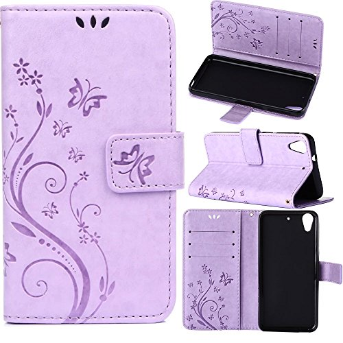 HTC Desire 626S Wallet Case, HTC Desire 626 Case, Harryshell(TM) Retro Flower Pattern Wallet Folio Leather Flip Case Cover with Credit Card Id Holder for HTC Desire 626 / - Id Retro Credit Card