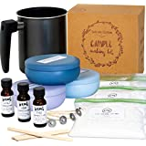 Nature's Blossom Candle Making Kit - DIY Starter Set to Create Premium Large Scented Candles. Included Supplies: Soy Wax, Melting Pitcher, Tin Containers, Wicks, Lemon, Lavender & Chamomile Fragrances