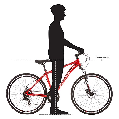 Schwinn GTX 2.0 700c Men's Dual 18 Sport Bike, 18-Inch/Medium, Red by Schwinn (Image #5)