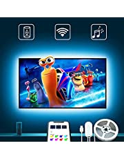 LED TV Backlights, Govee 3 Metre LED Strip Light for Television Compatible with Alexa Google Home, USB Powered for 46-55in Television, Strip Lighting, 2 x 50cm + 2 x 100cm (Don't Support 5G WiFi)