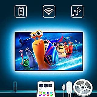 TV LED Backlights, Govee 9.8Ft LED Strip Lights Works with Alexa Google Home for 46-55in TV APP Control Multi-Color Light for PC Laptop Desk, Adapter USB Powered (Only Supports 2.4 GHz WiFi Network)