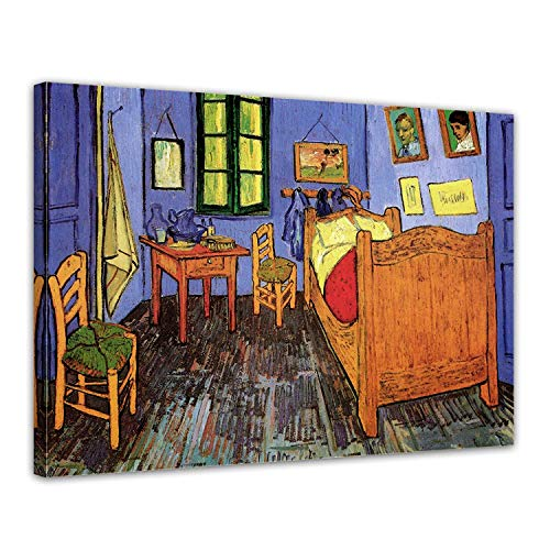 Arles Vincent Van - LVLUOYE Modern Wall Art Canvas Decor - Canvas Wall Painting -Vincent Van Gogh's Bedroom in Arles - Framed Artwork Photo -Bedroom Living Room Office Stretched Canvas,60x50cm