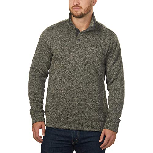 Eddie Bauer Men's Snap Placket Radiator Fleece Pullover