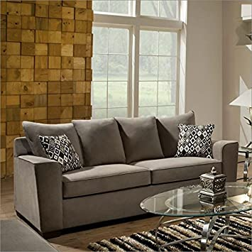 Amazon.com: Simmons Tapicería 9070 Roxanne sofá en Gunsmoke ...