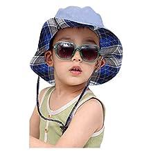 Baby Kids Child Infant Reversible Sun Protection Bucket Cap Hat Folding Floppy Beach Visor