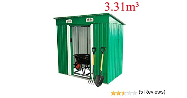Cobertizo Metalico 195x122x180cm Caseta 1,95 m2 Jardin herramientas Almacen: Amazon.es: Bricolaje y herramientas