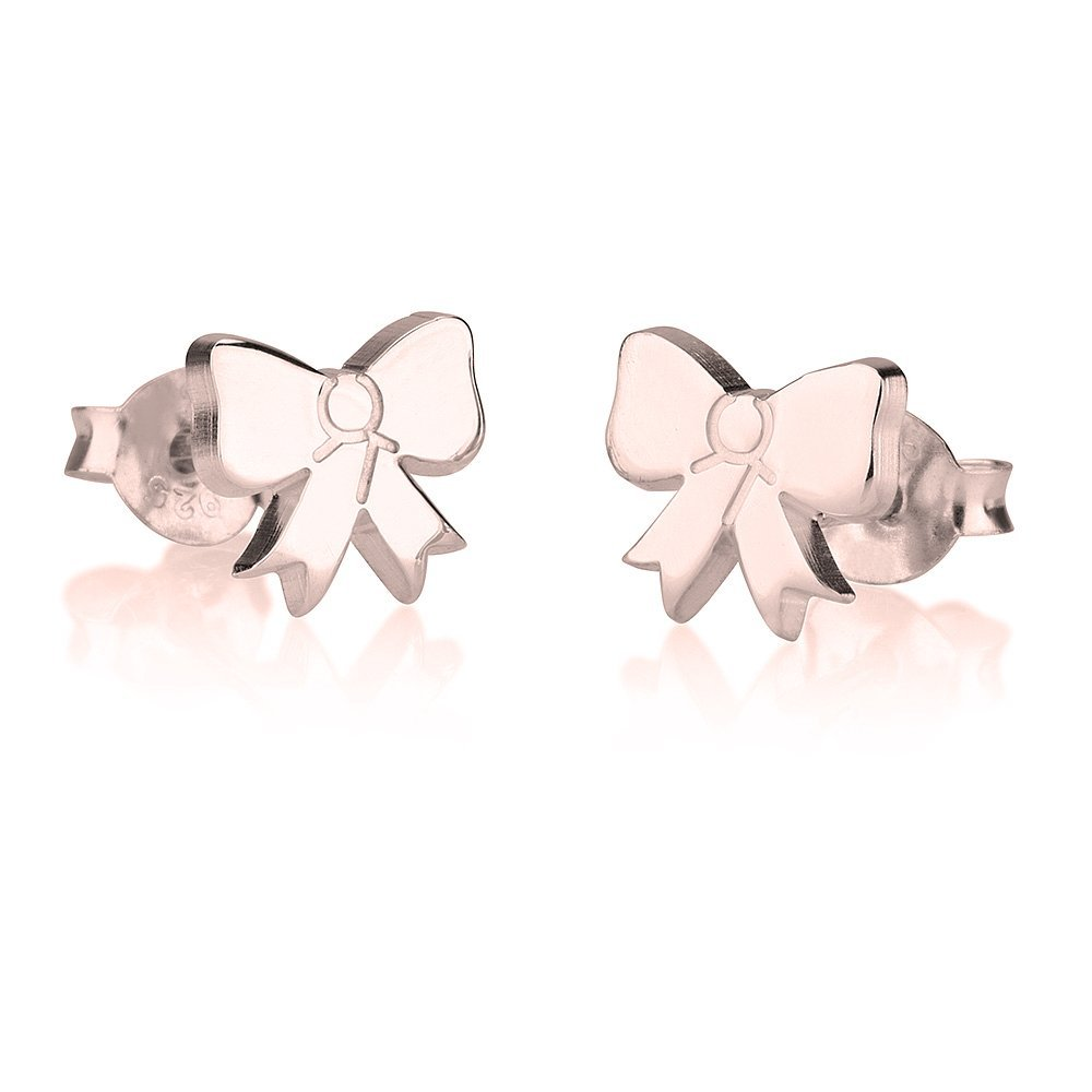 oNecklace Bow Shaped Earrings