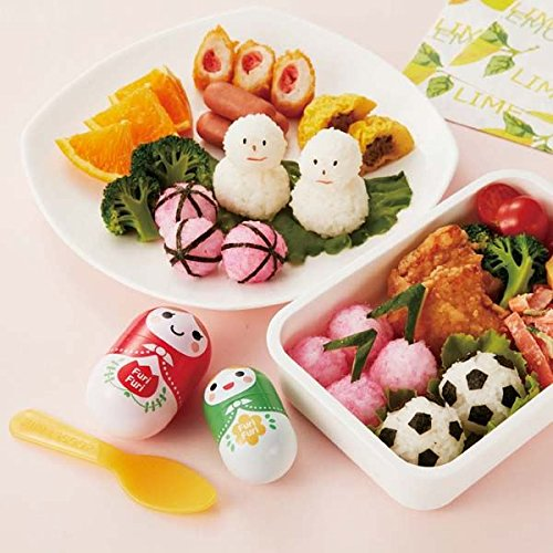 2 Matryoshka Bento cups rice shapers and spoon by Torune