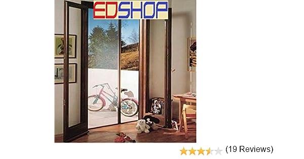Mosquitera enrollable para puerta, horizontal, tamaño 160 x 250 cm, color marrón y blanco: Amazon.es: Bricolaje y herramientas