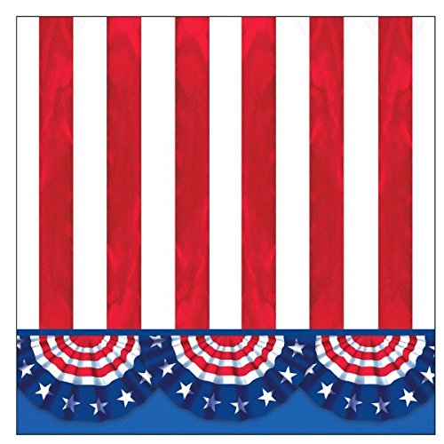 American Pride Party Beverage Napkins, 125 Ct. by amscan
