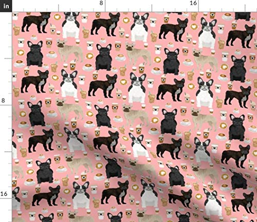 french bulldog fleece fabric - 7