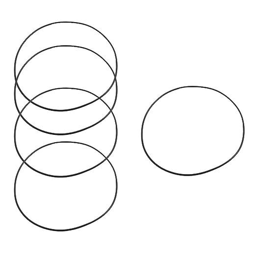 sourcingmap/® 5Stk Nitril Gummi Schwarz 2mm x 125mm O Typ Dichtung Ring Dichtung T/ülle de