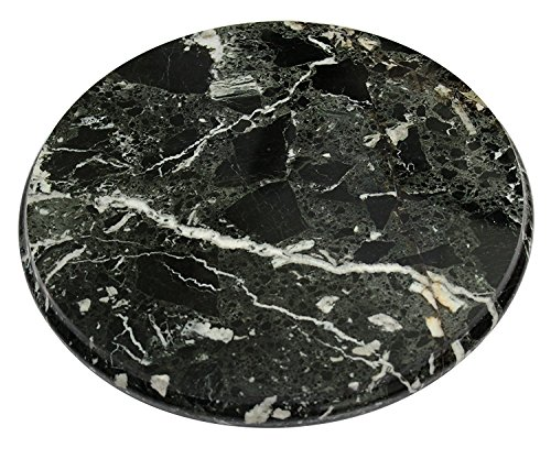 LAVISH DEALS Marble Cutting Board Black Round Professional Decorative Tile Kitchen Craftsman Cutting Boards Set - Best for Bar Serving Tray, Fruit Tray, Salad Chopping Block - For Home Desk Décor (BZ)