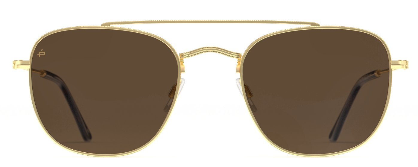 PRIVÉ REVAUX Places We Love Collection''The Yorker'' Polarized Handcrafted Designer Square Sunglasses