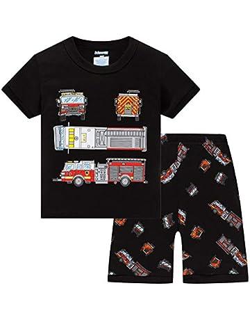 0494e926b Schmoopy Boys Trucks Pajamas Set 2-8 Years