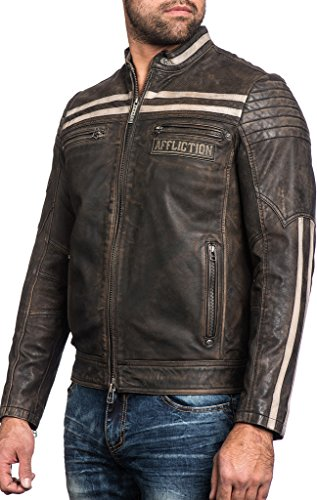 (Affliction Black Skull Genuine Leather Jacket)