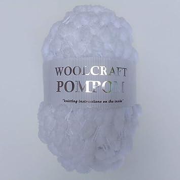 Woolcraft White Pom Pom Yarn 200g