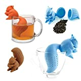 New Arrival Cute Silicone Squirrel Shape Tea Infuser Loose Leaf Strainer Bag Mug Filter Diffuser Holder Tea (Coffee)