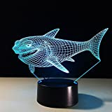 LAKA Night Light, 3D visualization Illusion LED Table Light with Touch Button, 7 Colors Change Touch Desk Lamp for Bedroom Children Room Decorative or Gifts for Birthday/Christmas