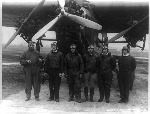 Fokker Monoplane (Photo: Army Air pilots,tri-motored Fokker monoplane,Bolling Field,Washington DC,1928)